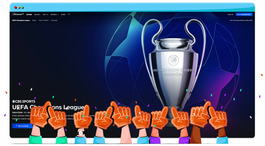 UEFA Champions League 2021 finals streaming on Paramount Plus