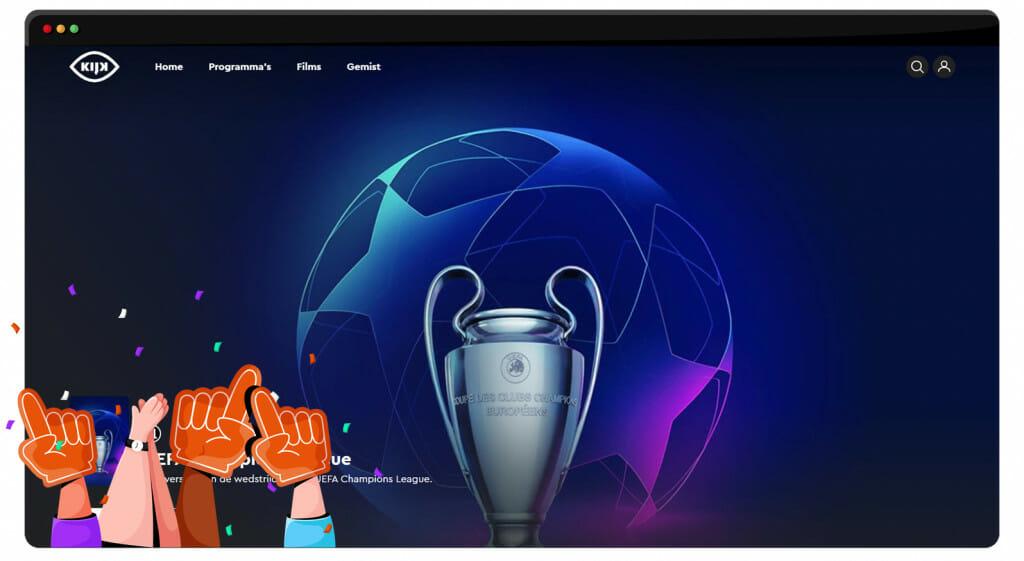 UEFA Champions League 2021 finals streaming on Kijk.nl Netherlands