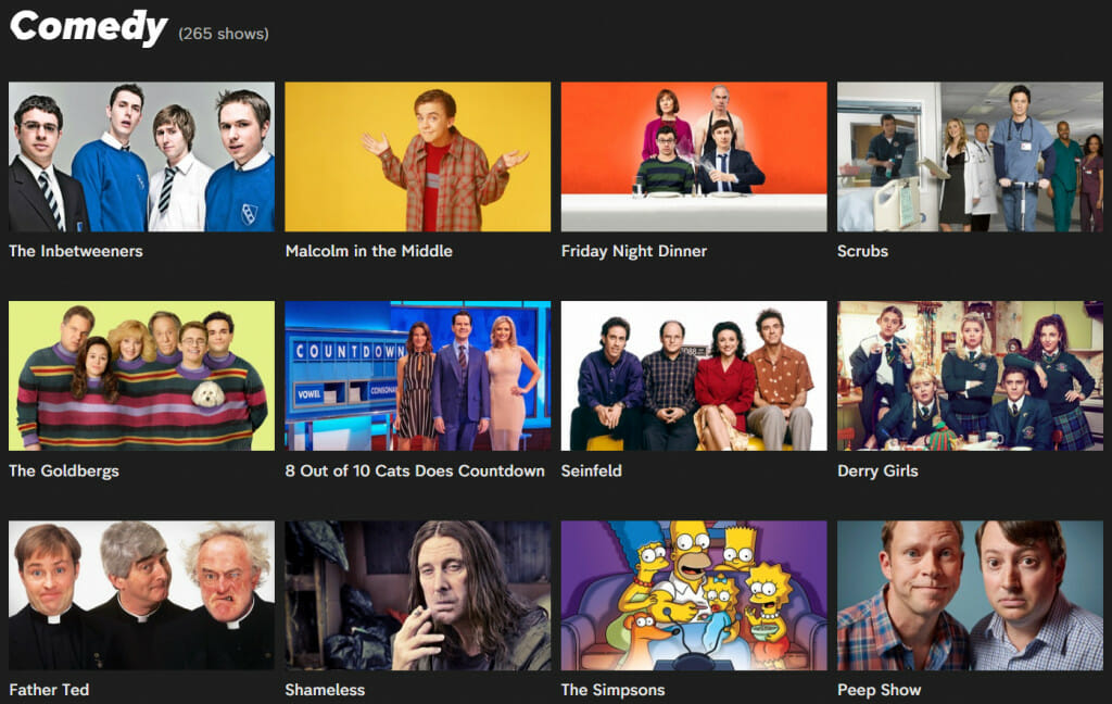 Comedy shows streaming on Channel 4