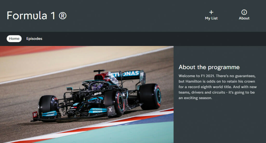 Formula 1 streaming on Channel 4