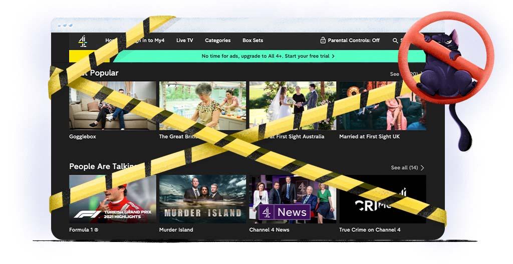 Channel 4 is onbeschikbaar in Nederland