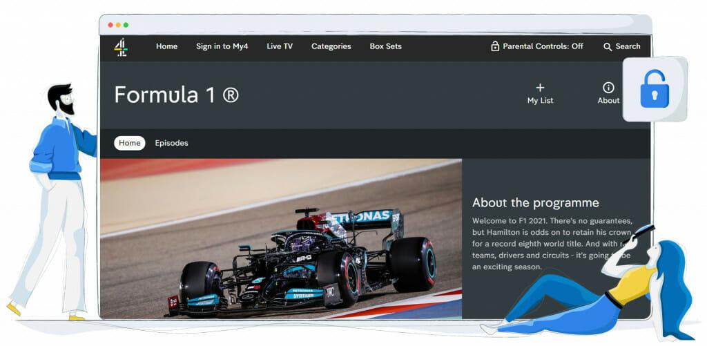Transmisja strumieniowa Formuły 1 na Channel 4 UK