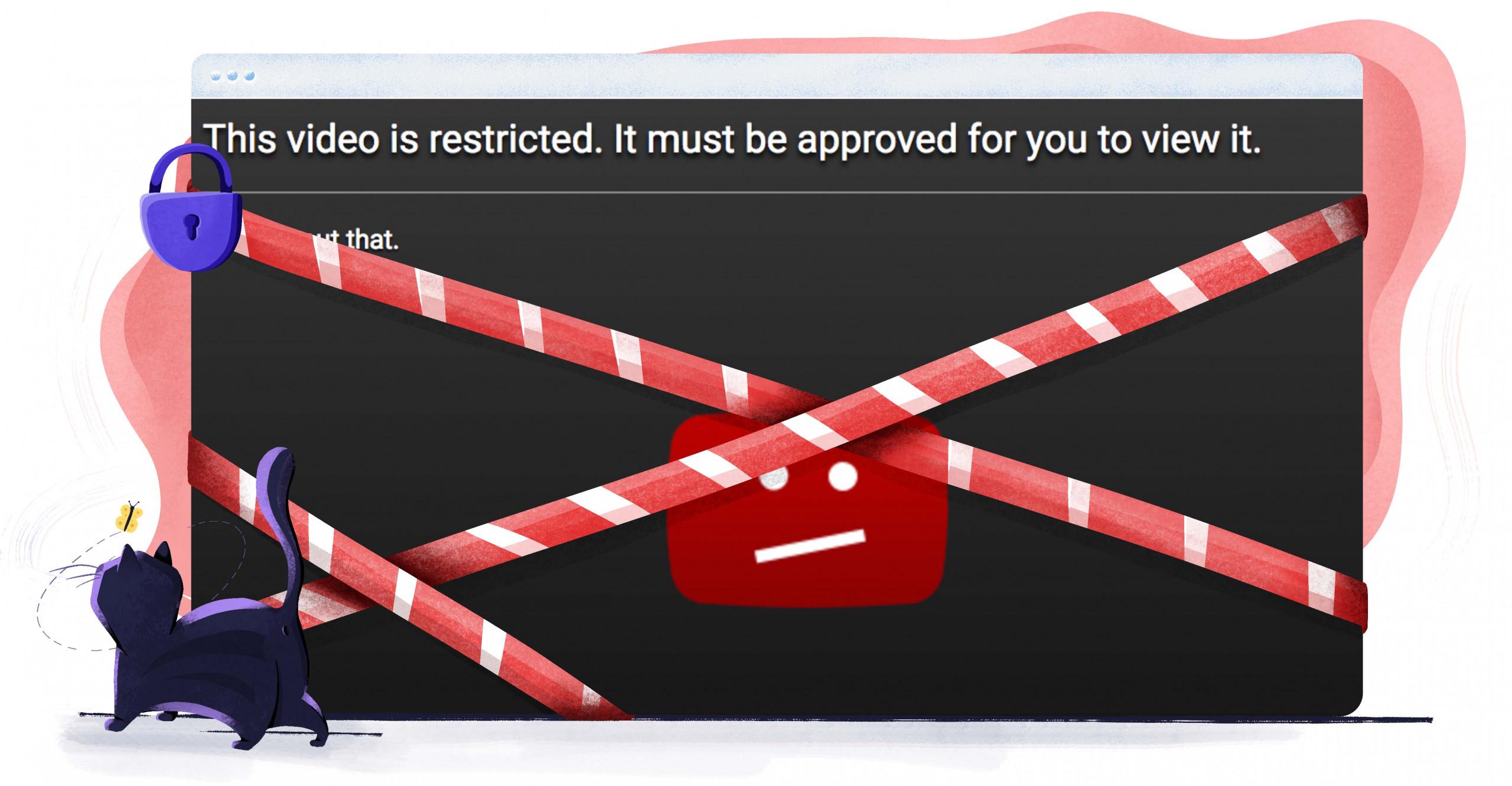 YouTube ayrıca bazı videoları engelliyor