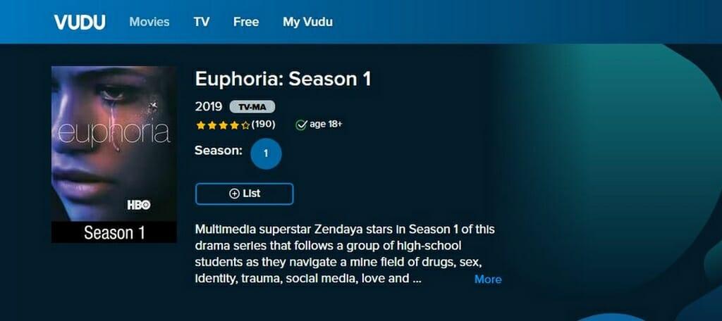 Euphoria su VUDU