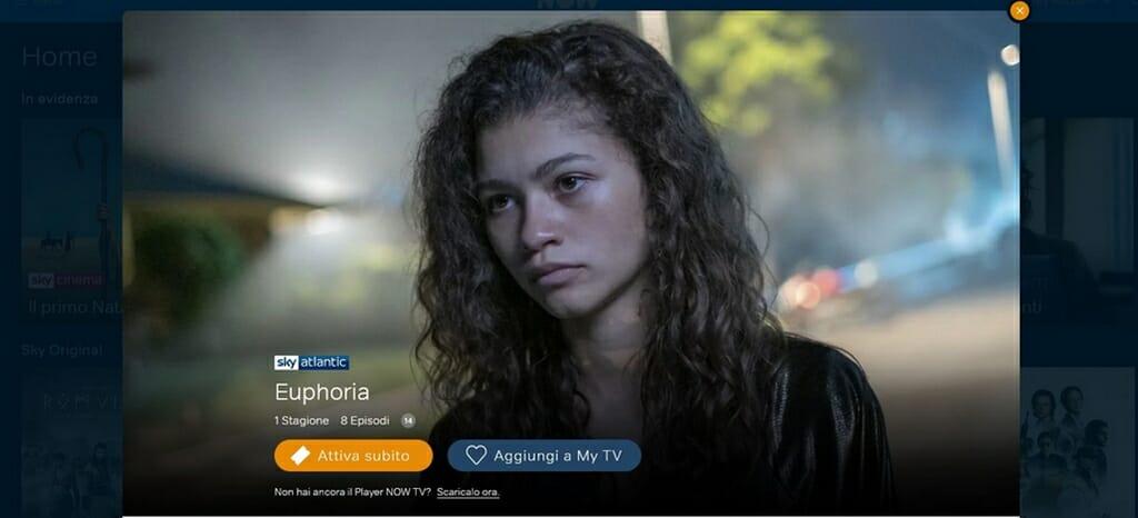 Euphoria su Now TV