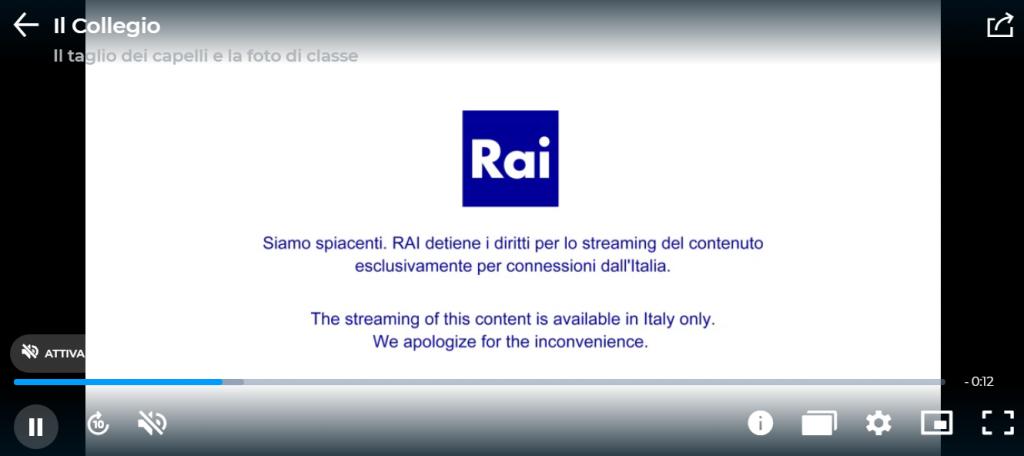 rai streaming