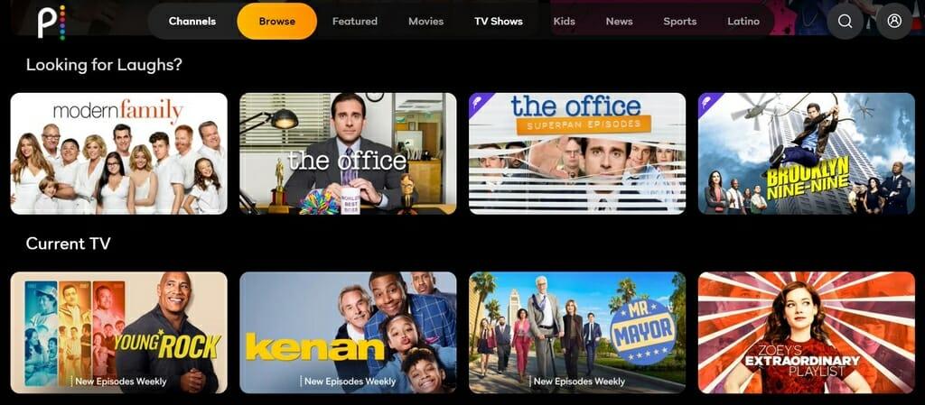 Programy telewizyjne na Peacock