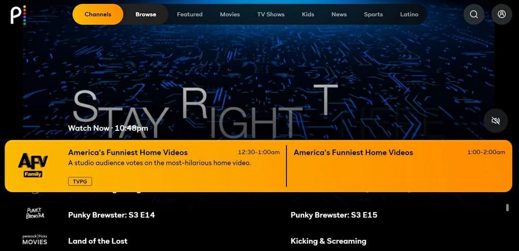 Amerykańskie kanały telewizyjne na Peacock