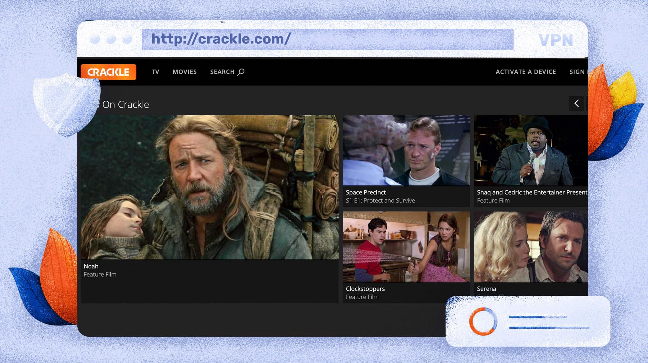 A Crackle egy ingyenes platform a filmek streamelésére.