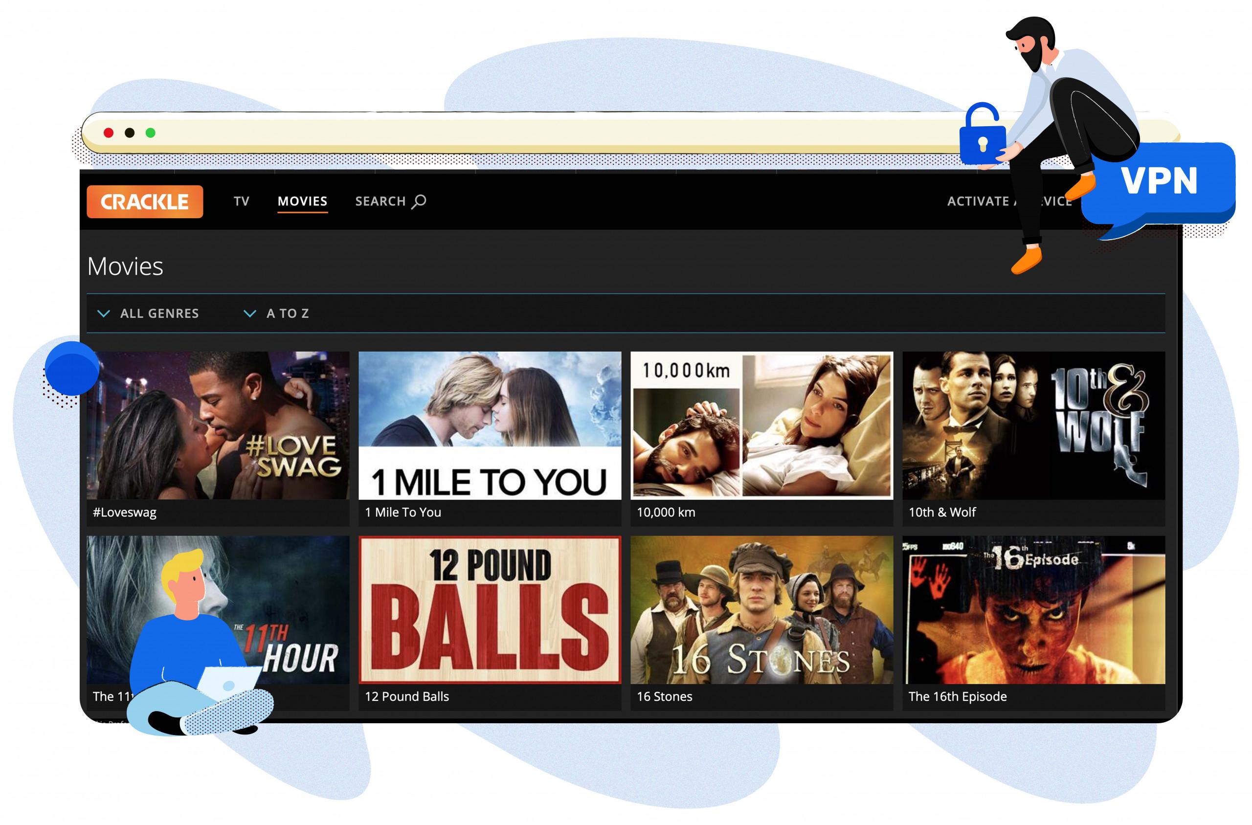 Filmek széles választékát streamelheted a Crackle-en