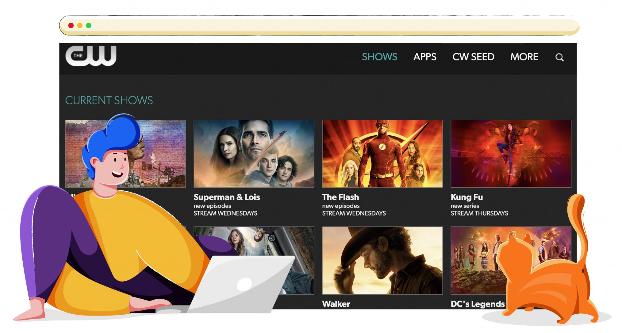 CW streaming műsorok, filmek és animációk
