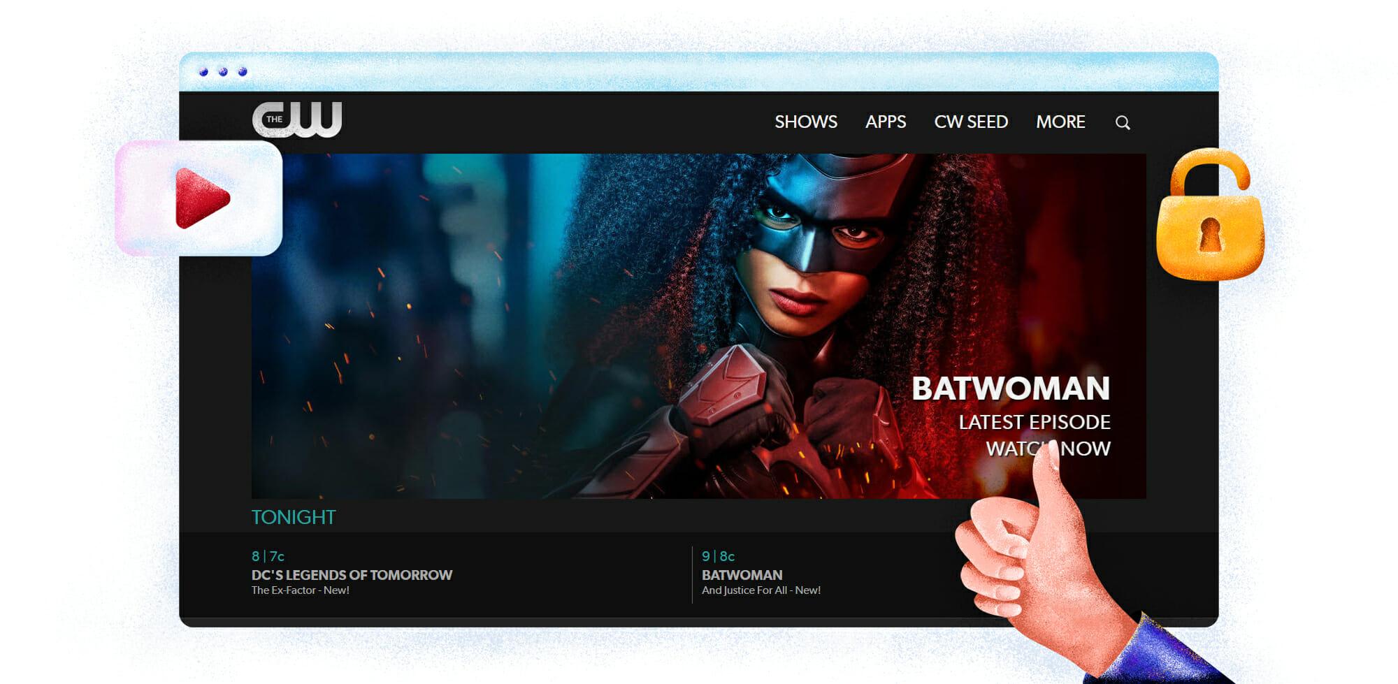 CW TV streaming superhero shows