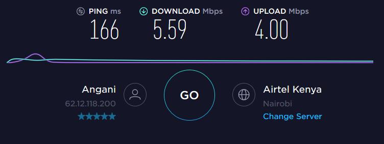 Speedtest Kenya server