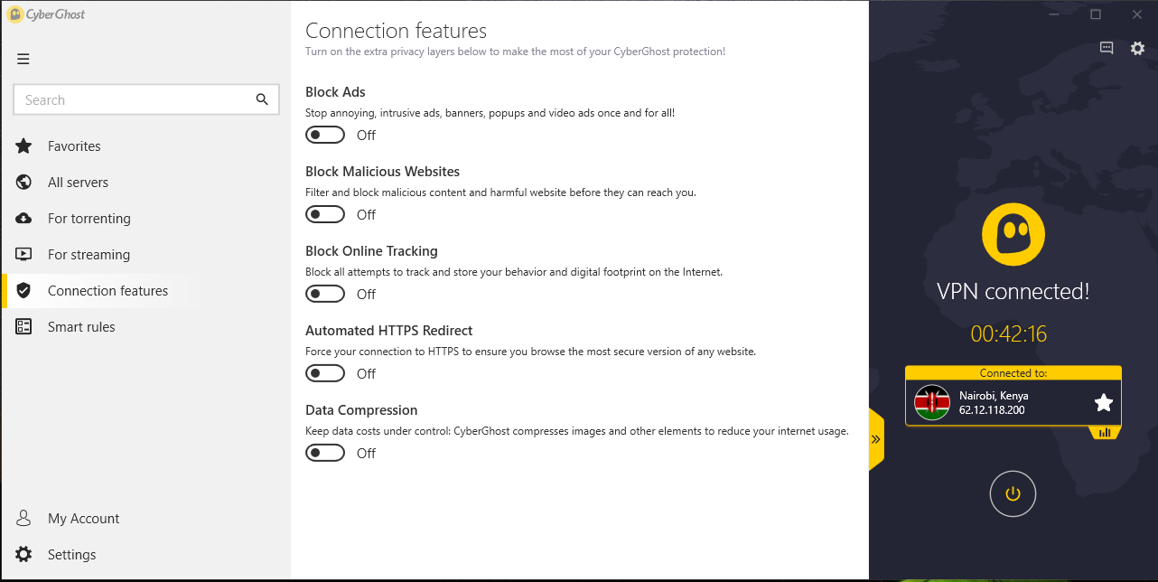 App connection features