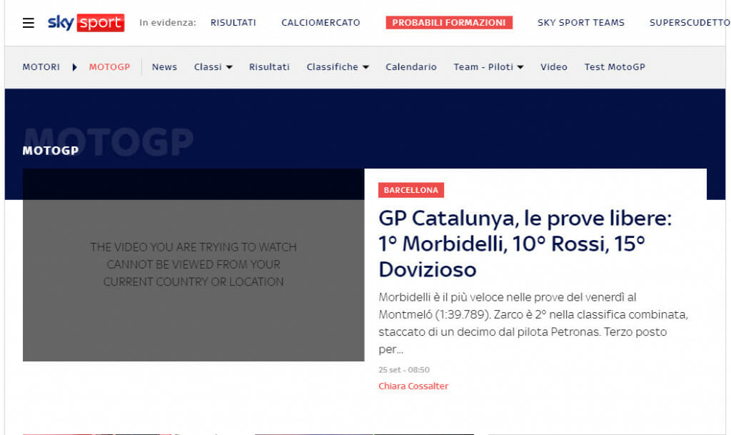 SkySport MotoGP geoblock