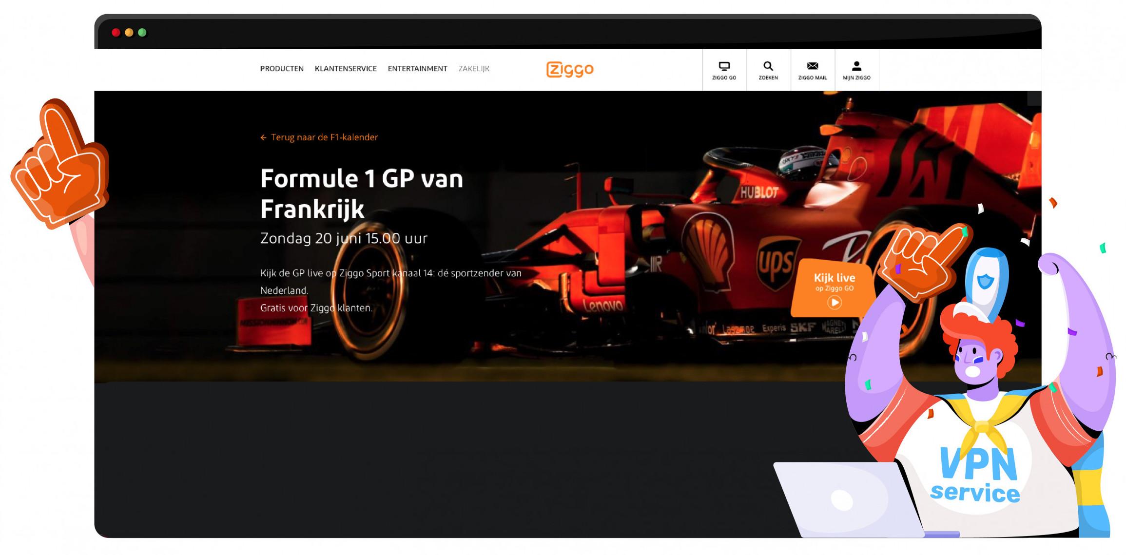 Je kunt nog steeds Formule 1 kijken op Ziggo