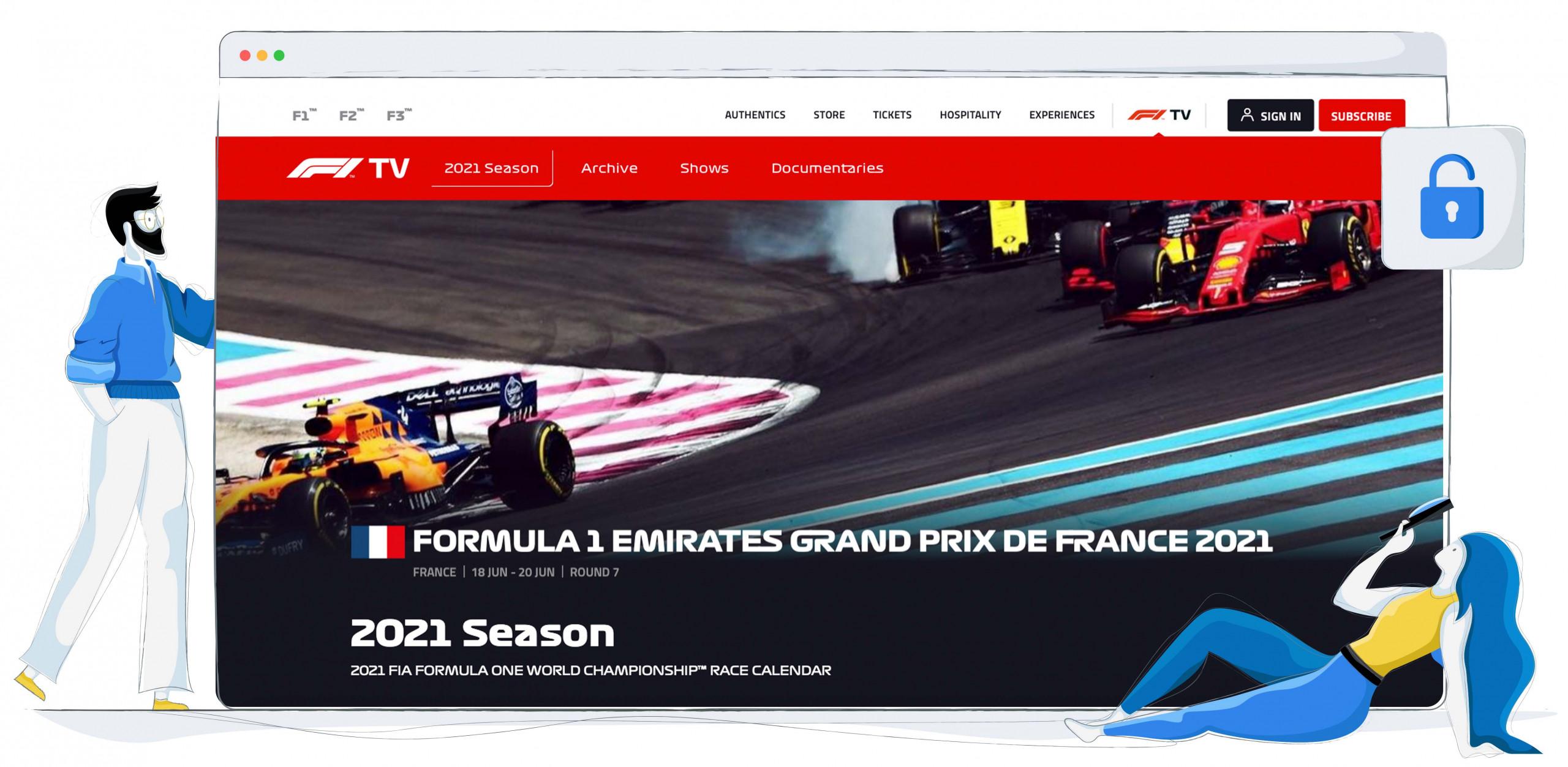Je kunt betalen voor F1 TV om Formula 1 te kijken