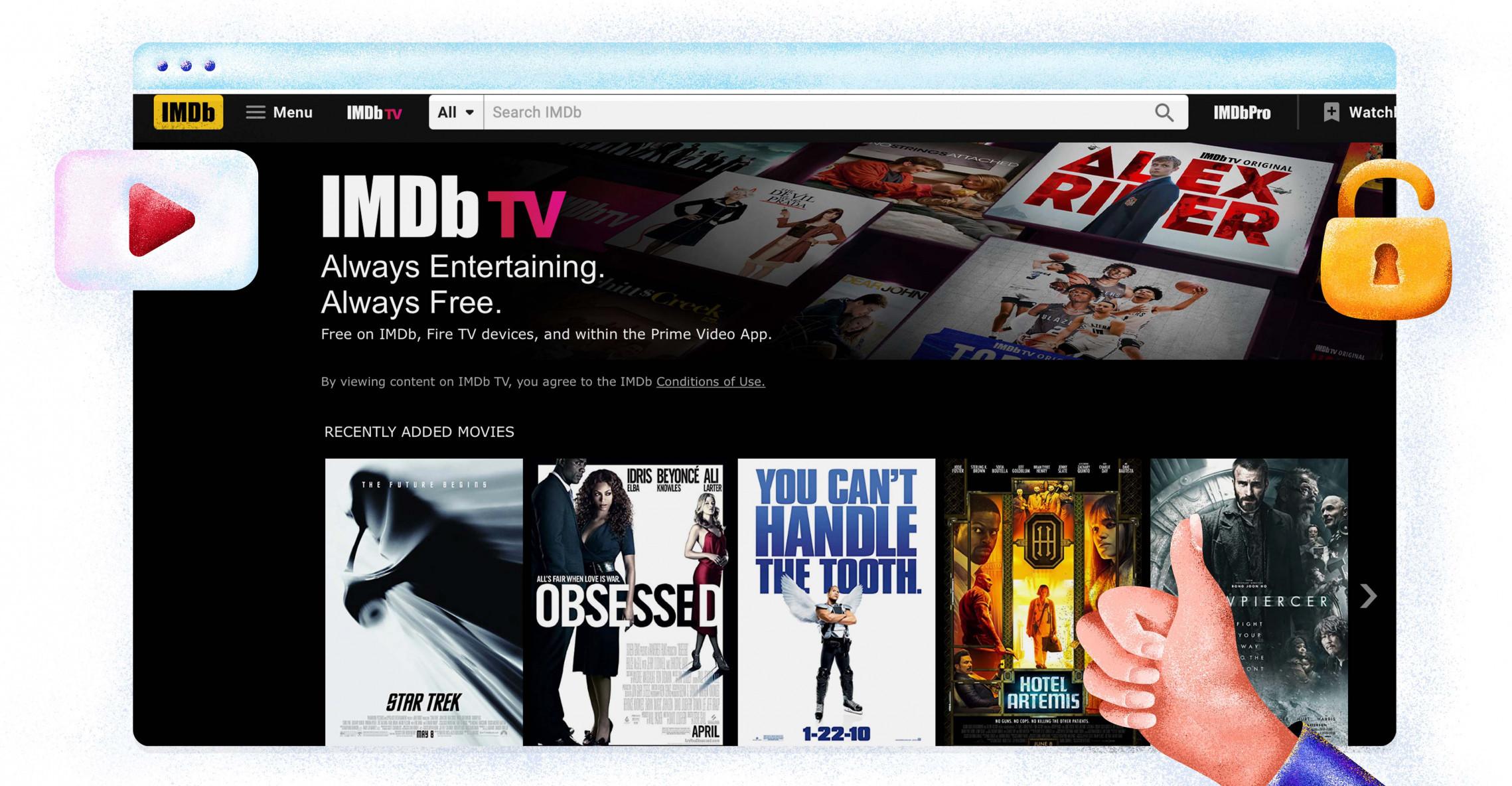 IMDB TV'yi ücretsiz izleyin