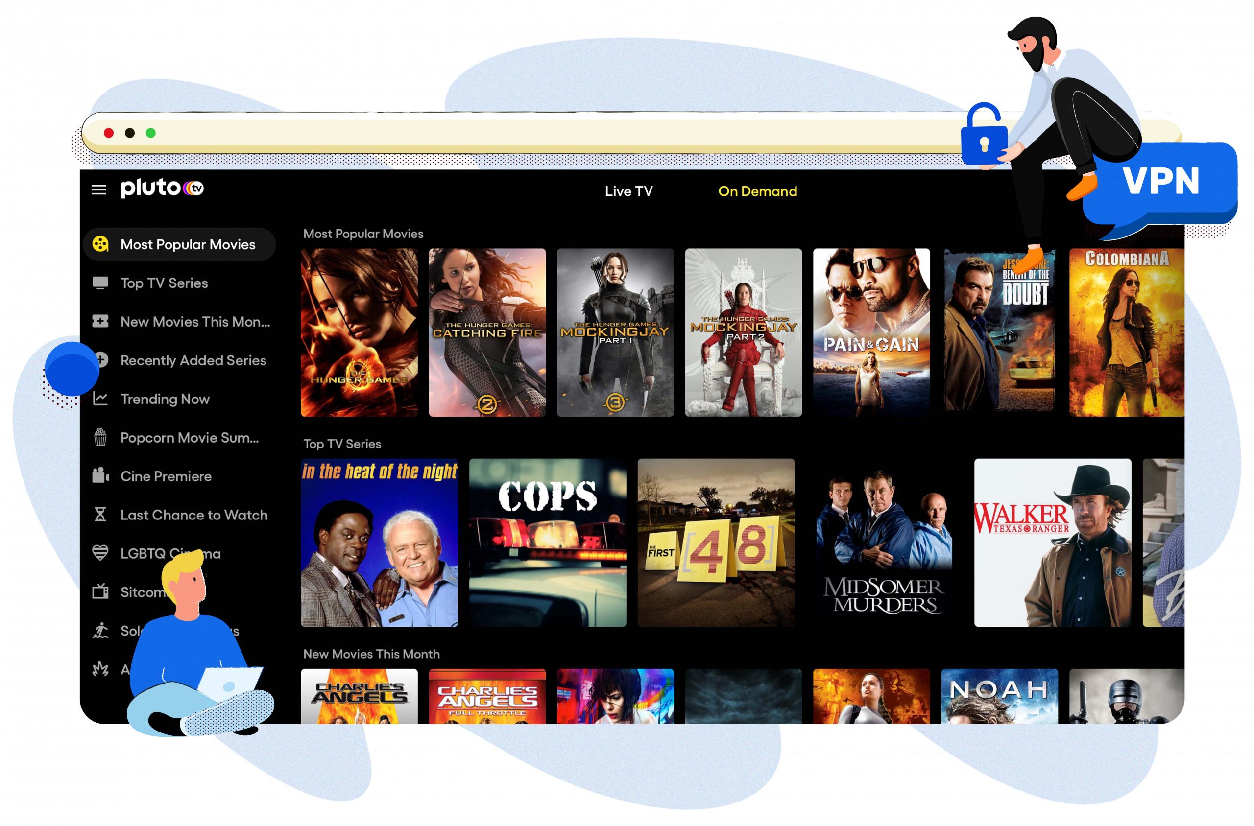 Pluto TV'de film ve TV şovları yayınlayın