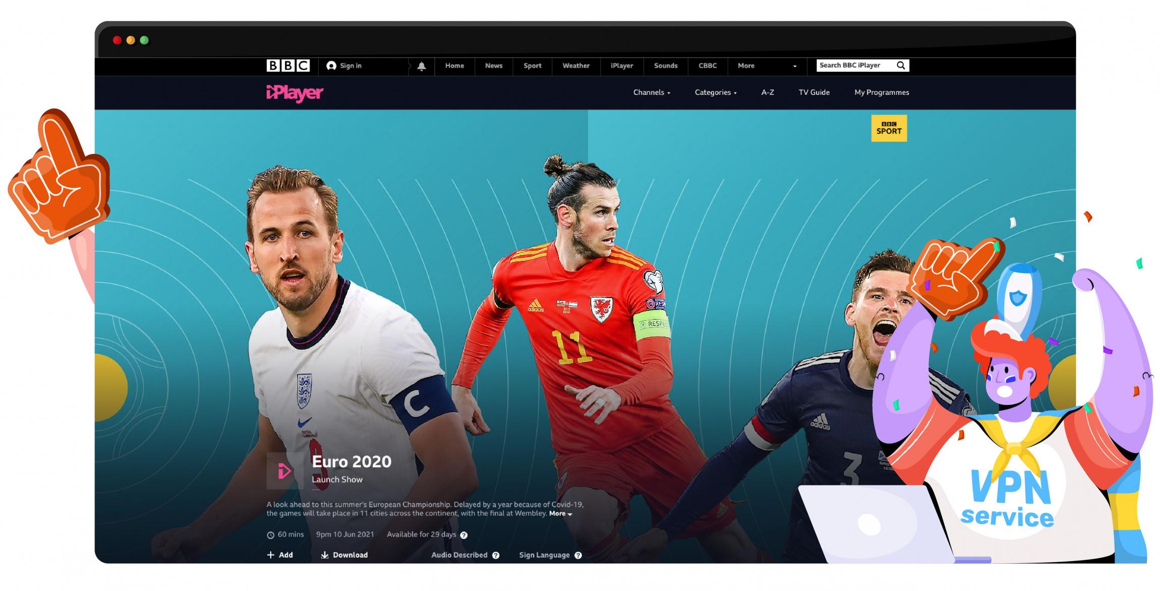 Stream Euro 2020 UK from BBC iPlayer