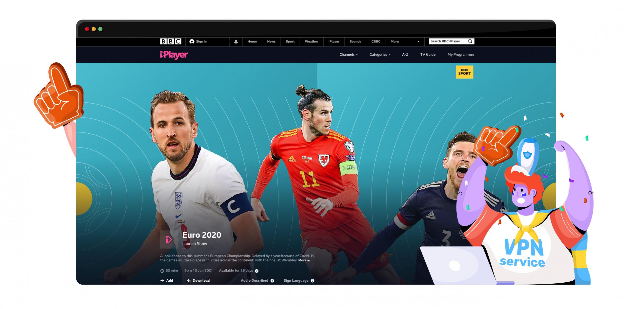 Euro 2020 UK BBC iPlayer