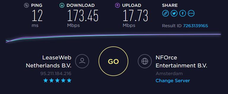 Speedtest NL server