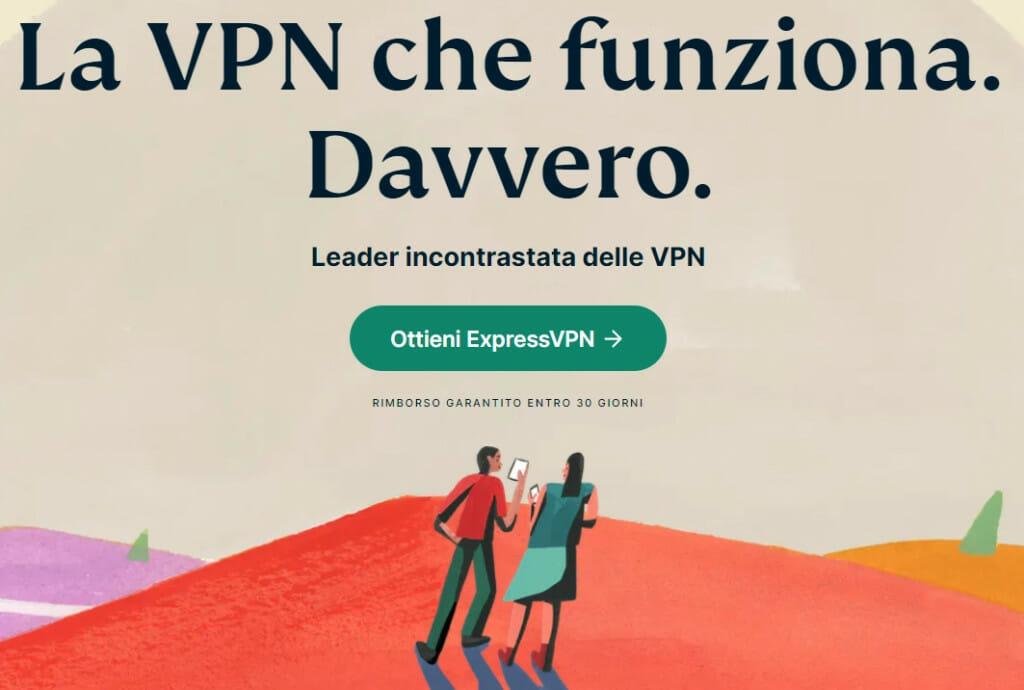 Nuovo sito web di ExpressVPN