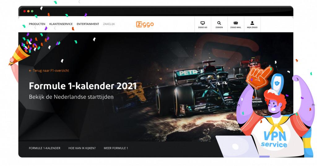 Dit jaar wordt de Formule 1 nog live gestreamd via Ziggo