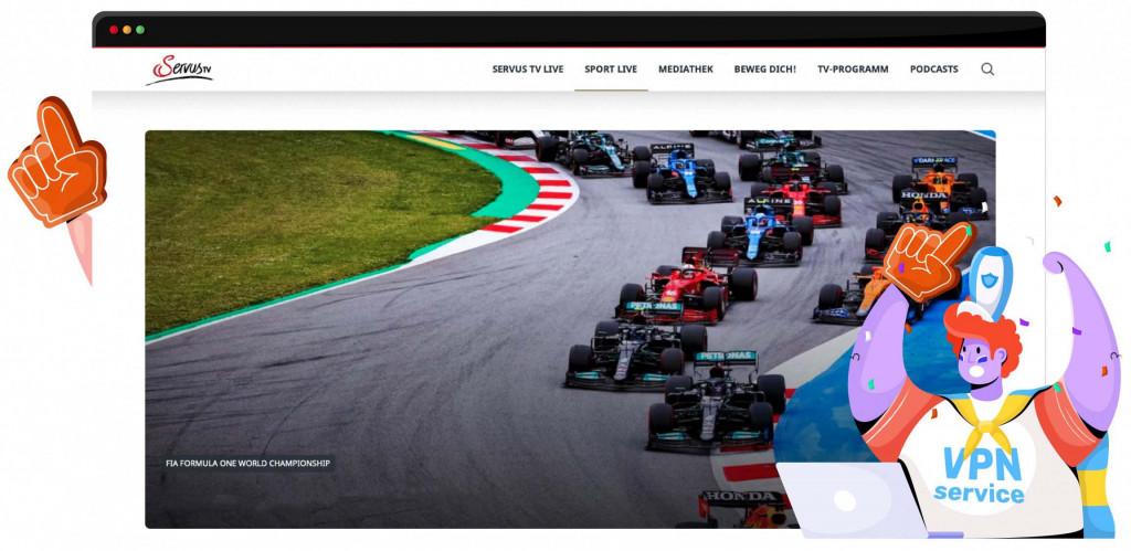 Met een VPN kun je de GP van Steiermark van Servus TV streamen