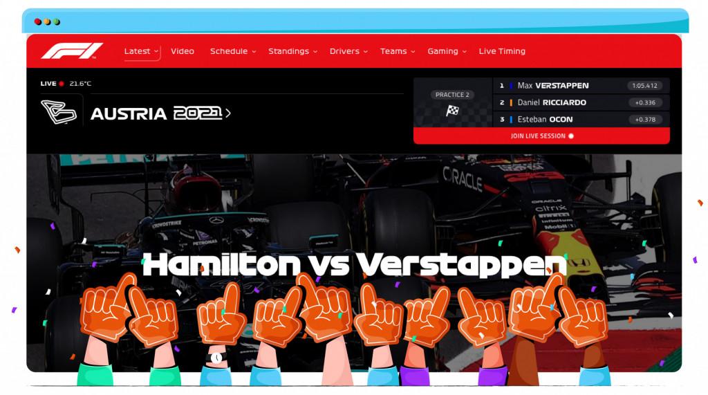 Formule 1 Hamilton vs. Verstappen