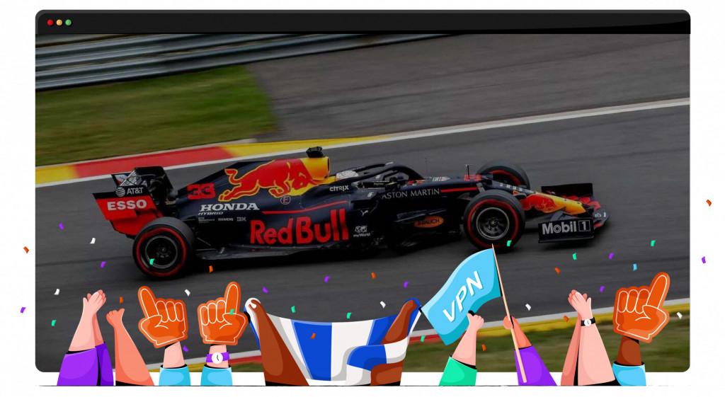 Met een VPN kun je overal gratis naar de Formule 1 kijken