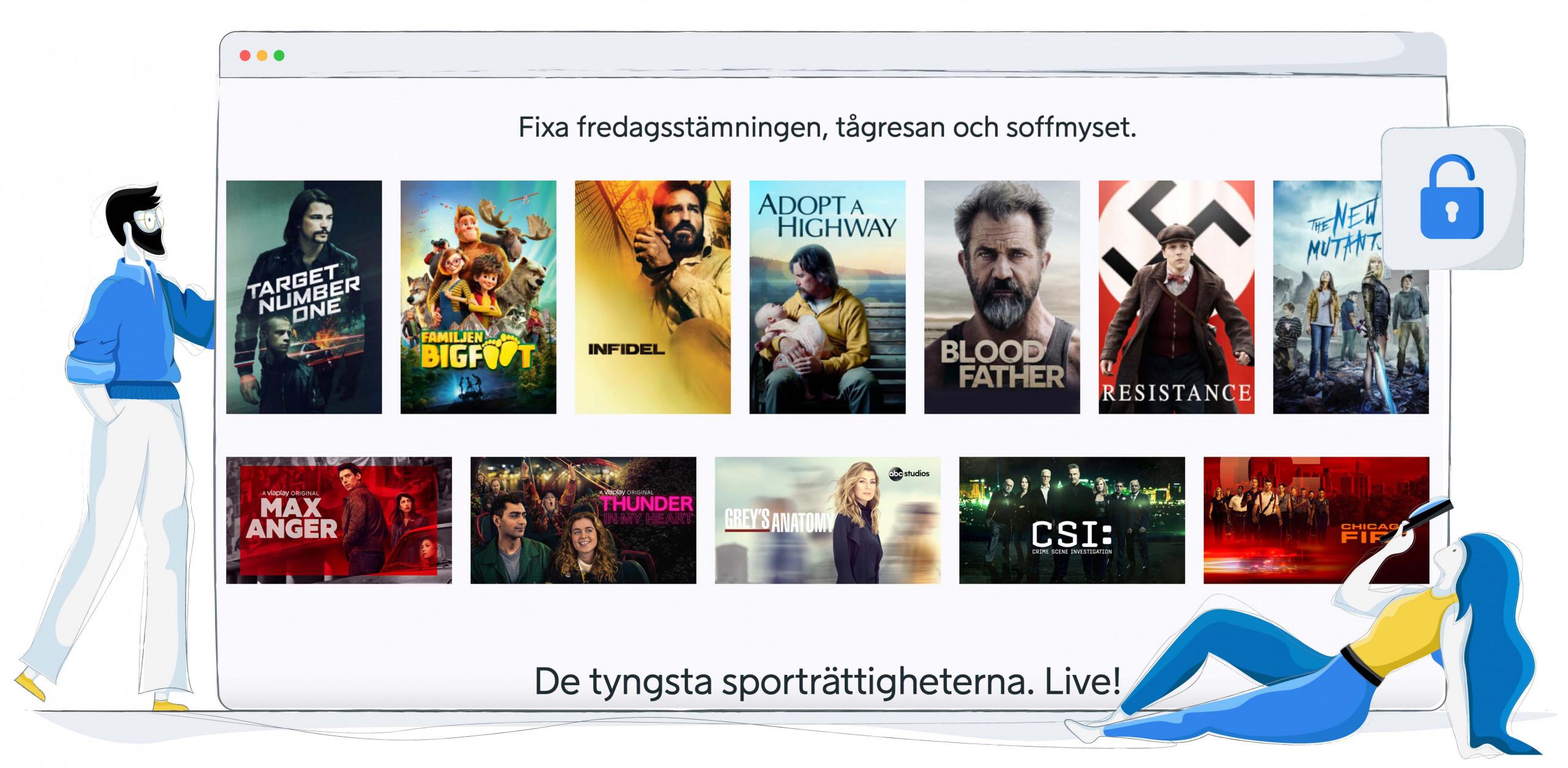 Je kunt ook films en series met een Viaplay abonnement kijken