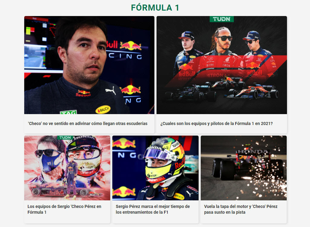 Formula 1 streaming on Canal 5 Mexico