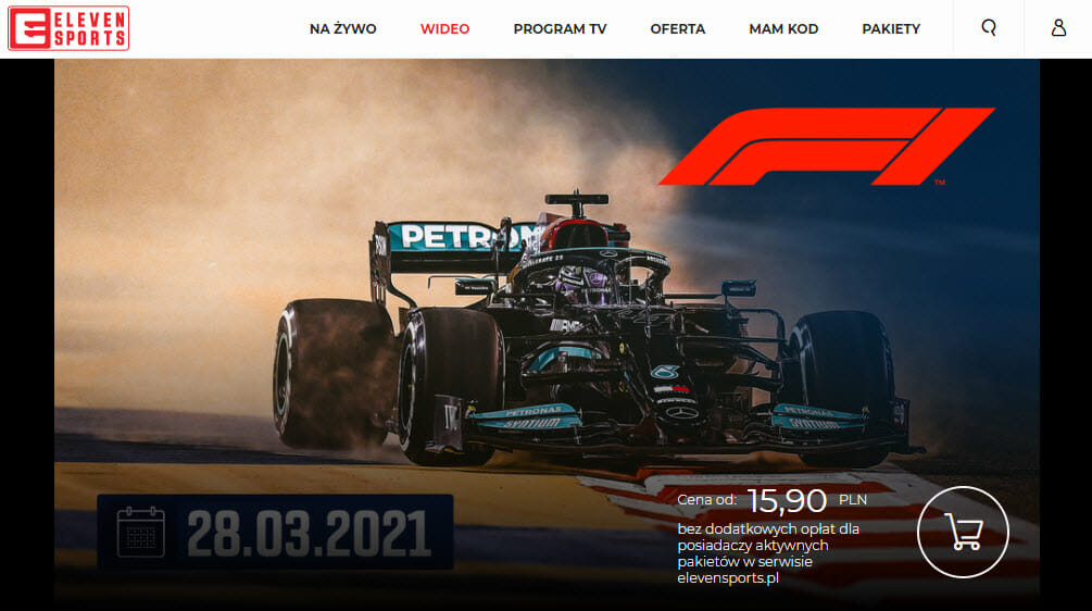 Streaming Formuły 1 2021 w Eleven Sports Network