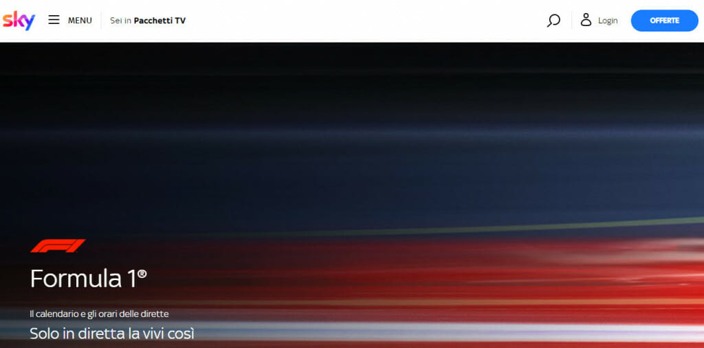 Formula 1 in streaming su Sky Sport
