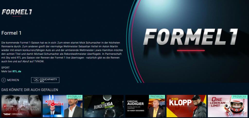 Formel 1 Streaming auf RTL