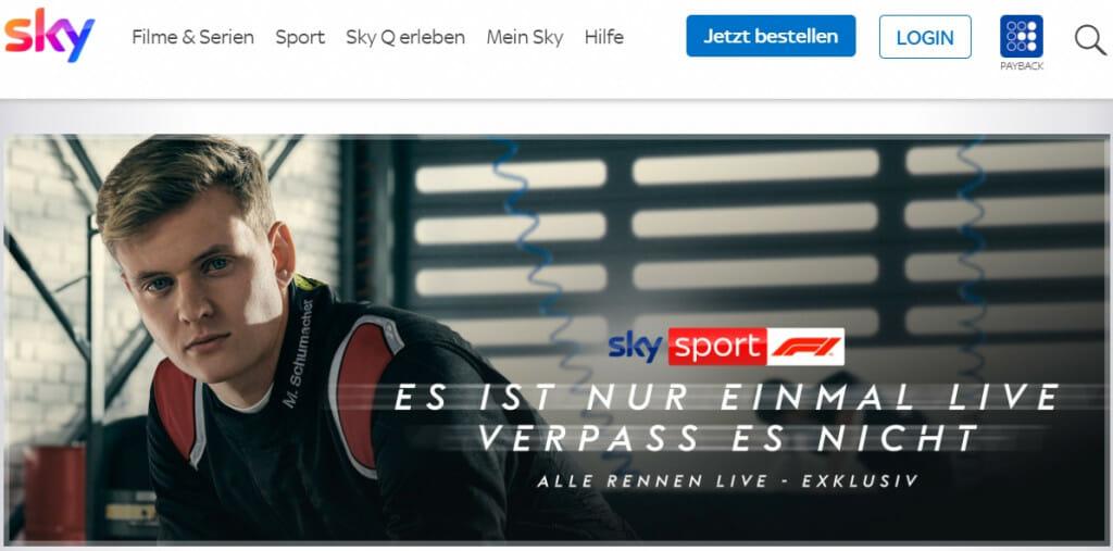 Formel 1 Streaming auf Sky