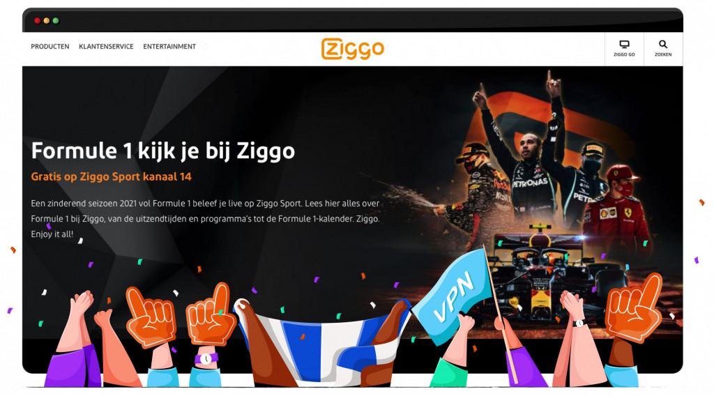 Formule 1 op Ziggo kijken
