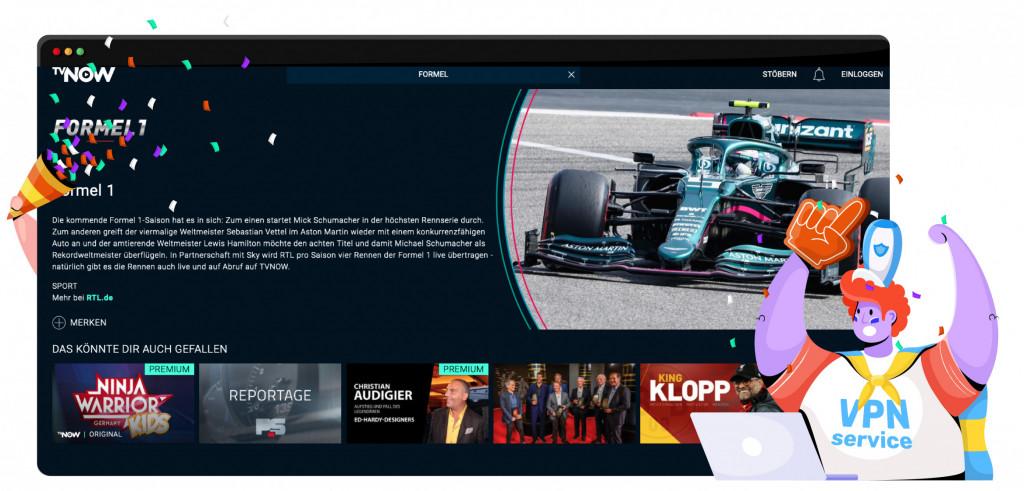 TV Now streamt Formule 1