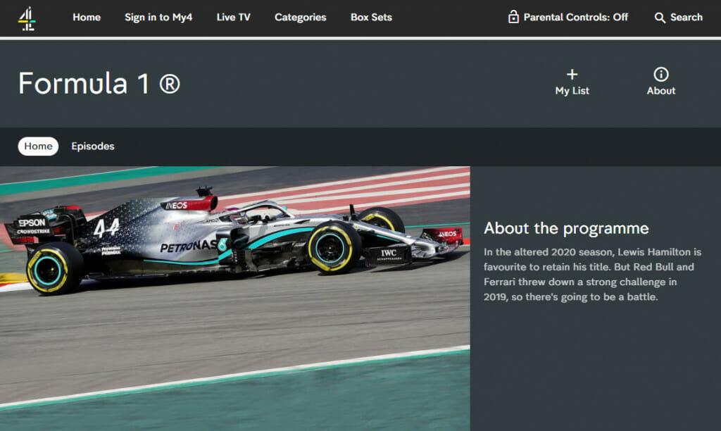 Formel-1-Streaming auf Channel 4 Großbritannien
