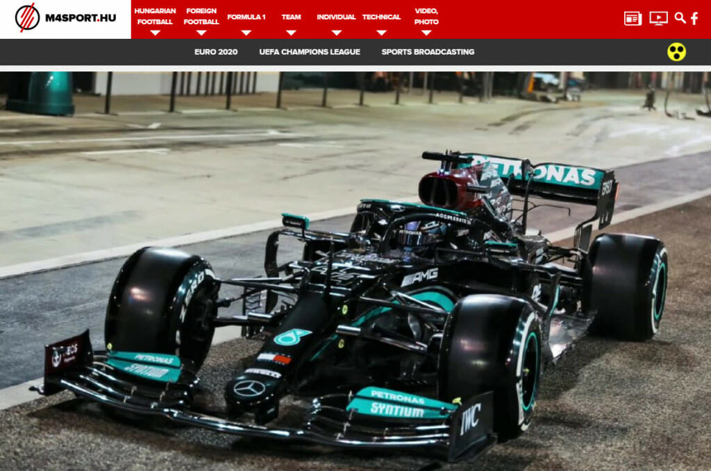Formula 1 livestream on Mediaklikk Hungary