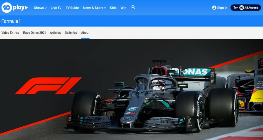 Formel-1-Streaming auf Network Ten Australia