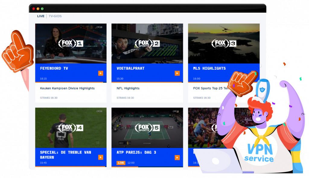 Krijg toegang tot Fox Sports met een VPN