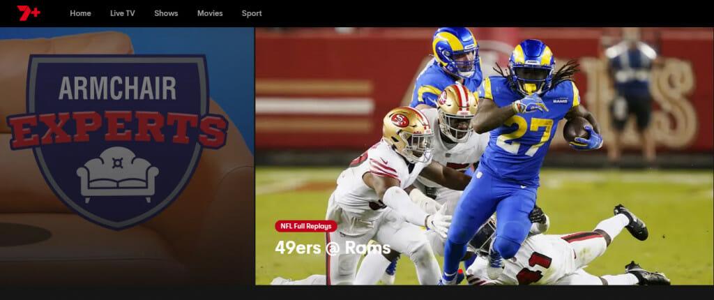 Jak oglądać NFL w 7PLus