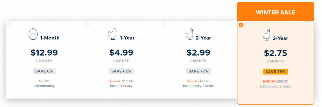 GOOSE VPN Subscription Prices