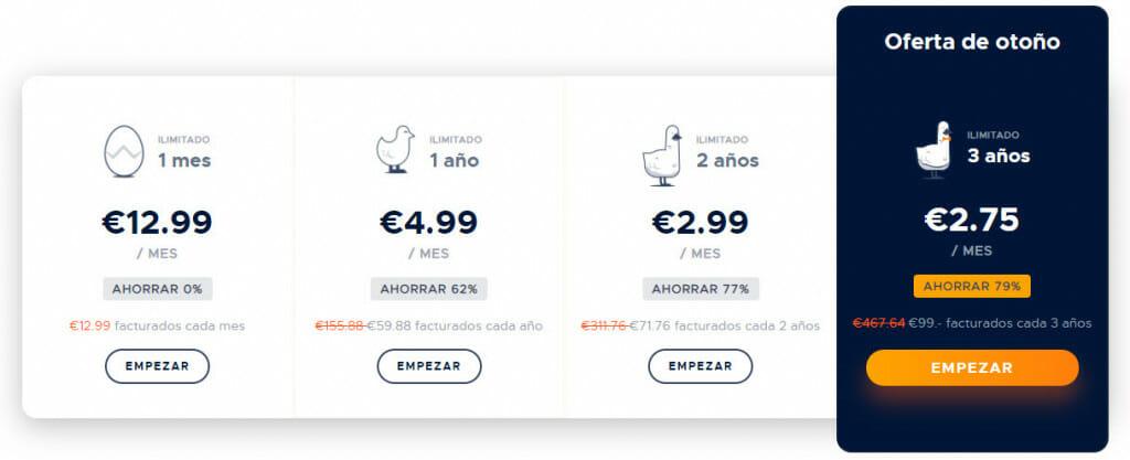 Precios de suscripción a GOOSE VPN