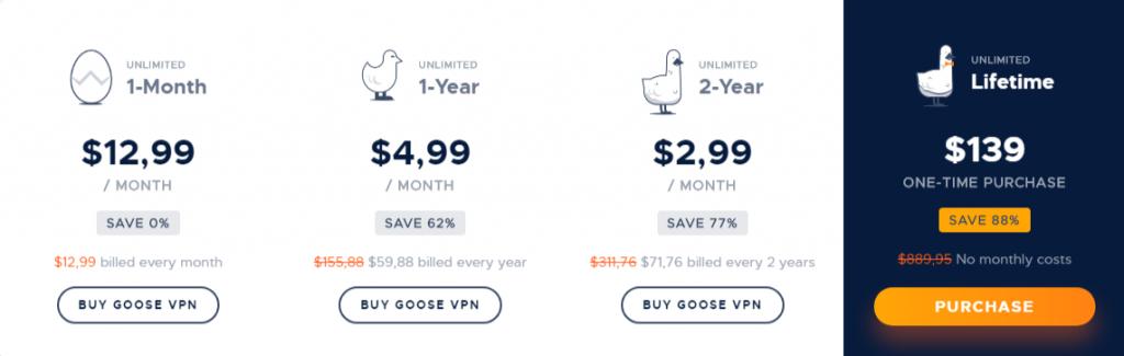 goose-vpn-price