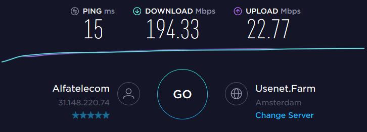 Dutch streaming server speed test