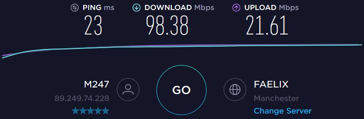 UK server speed test