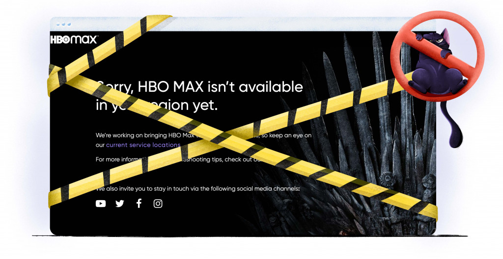 HBO Max is not available outside the US